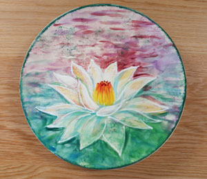 Anchorage Lotus Flower Plate